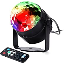 lederTEK Mini Disco Lights 7 colori RGB effetto di illuminazione del DJ della discoteca della luce LED Club esenario cambiato da Music Control remoto e Disco, Party, Matrimonio, Natale