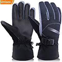 OKELAY Ski Gloves Men Waterproof, Unisex Winter Warm Thermal Gloves 3M Thinsulate,Snowboarding gloves Insulated with Zipper Pocket for Outdoor Downhill Skiing Cycling (Small,Medium,Large,X Large)
