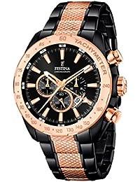 Festina Herren-Armbanduhr Chronograph Quarz Edelstahl beschichtet F16888/1