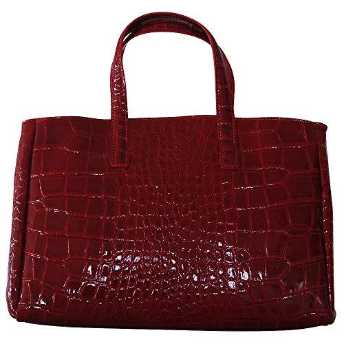 Chapeau-tendance - Sac a main cuir vernis Rouge - - Femme