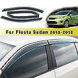 Jiahe per for d Fiesta Sedan 2010-2018 4PCS Deflettori d'Aria per Auto Deflettore Pioggia Vento Bloccare Sole Deflettori d'Aria Antiturbo