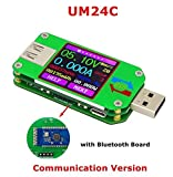 UM24C USB 2.0 Power Meter Tester USB Multimeter Color LCD Display Voltage Current