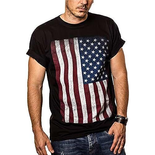 dia del orgullo friki Camiseta con Bandera de Estados Unidos