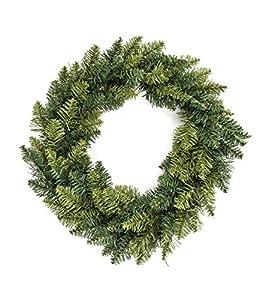 Corona 40 cm Verde Floreciente