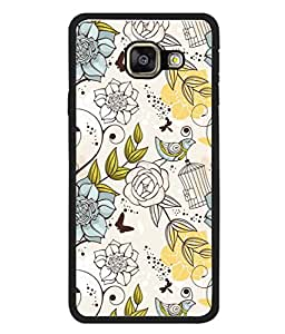 PrintVisa Designer Back Case Cover for Samsung Galaxy A3 (2015) :: Samsung Galaxy A3 Duos (2015) :: Samsung Galaxy A3 A300F A300Fu A300F/Ds A300G/Ds A300H/Ds A300M/Ds (Cloth Design Work Flower Bale Bird Art Climber )