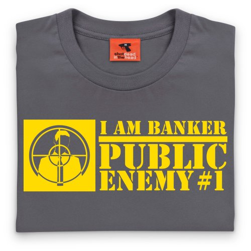 Square Mile Public Enemy Banker T-Shirt, Herren Anthrazit