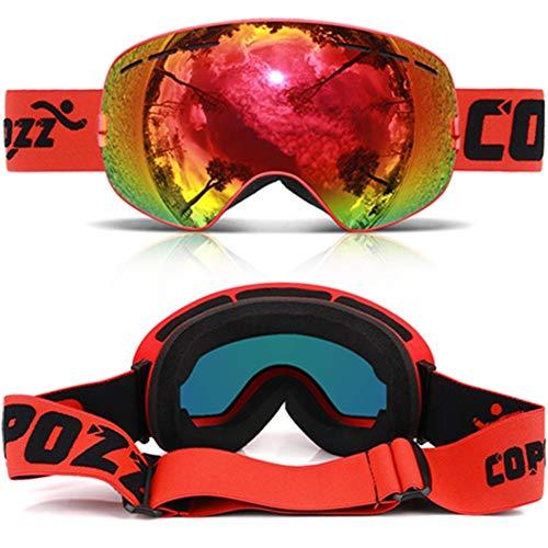JGOLHJGKJ600 Skibrille Skibrille Doppelschichten UV400 Anti-Fog große Ski-Maske Brille Skifahren Männer Frauen Schnee Snowboard Brille GOG-201 Pro, Farbe Zeigen (Damen Electric Snowboard Brille)