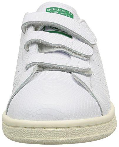adidas Stan Smith, Baskets Basses Homme Blanc (White/Green/Cream White)