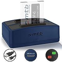 Double Chargeur (USB) pour Fujifilm NP-45 / Finepix J.. / JV.. / JX600 ../ JZ500.. / XP80 XP90.. - .v. liste - Cable Micro-USB inclus