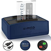 Cargador doble (USB) para Fujifilm NP-45 / Finepix J.. / JV.. / JX600 ../ JZ500.. / XP80 XP90... - ver lista de compatibilidad