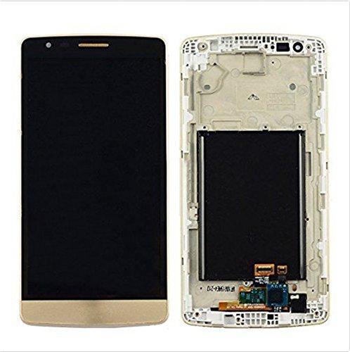 for jiujinyi LG G3 D850 D851 D855 VS985 para LCD Pantalla Táctil de Digitalización Asamblea Pantalla de Recambio (Oro + Marco)
