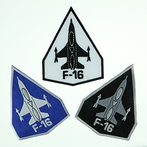 Set F-16 Fighting Falcon Air Force Jet Aircraf Embroidered Applique Iron-on Patch by The Most