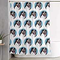 Setyserytu Funny Bernese Mountain Dog Shower Curtain Liner 70x70 inches Waterproof Fabric Shower Curtains with Hooks Bathroom Sets for Home Hotel Decor