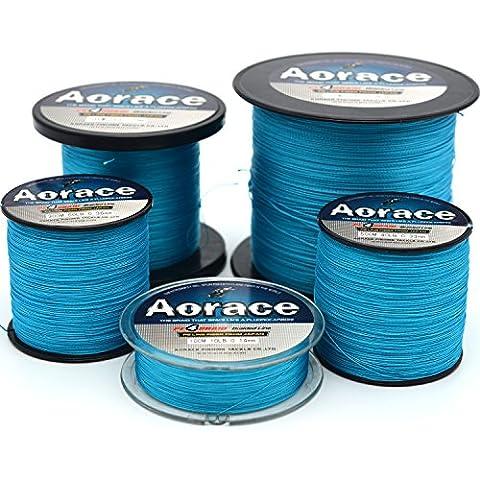 Aorace treccia linea di pesca 20LB forte e resistente all'abrasione 500M materiale in fibra di pesca Blue Line avanzata Superline - Bobine 20 Pound
