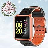 Chouzon Fitness Tracker mit 1,3'Farbdisplay, Waterproof, für iPhone & Smartphone (Schwarz)