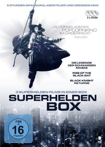 (Die Legende der schwarzen Maske, Rise of the black Bat, Black Knight returns) [3 DVDs] (Schwarze Superhelden Maske)