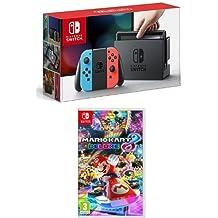 Nintendo Switch - Blu/Rosso Neon + Mario Kart 8 Deluxe