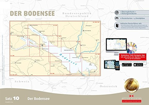 Sportbootkarten Satz 10: Bodensee (Ausgabe 2017)