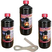 3litros de aceite puro para petróleo faroles con 1metros de mecha apta para fuego de queroseno y lámpara 275y 276
