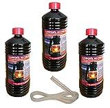 3 Liter Hochreines Lampenöl für Petroleumlaternen inkl. 1 Meter Docht passend für Feuerhand Sturmlaterne und Lampe 275 und 276
