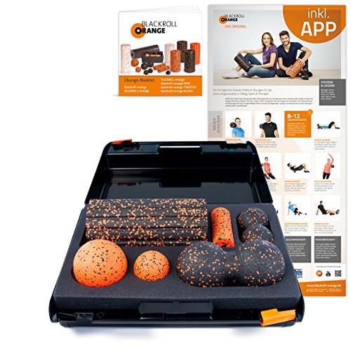 Blackroll Orange Die Faszienrolle - SMR-Set, Groove Standard, inkl. Koffer, Übungs-Poster  Preisvergleich