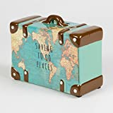 Saving To Go Map Places Suitcase Money Bank -