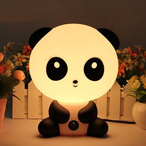 Signstek Lampe Enfant, Lampe chevet, Lampe Table, Lampe Nuit, Lampe Réveil,En Forme de panda,Veilleuse Bébé
