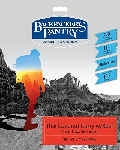 Backpacker's Pantry Thai Coconut Curry with Beef, Two Serving Pouch by Backpacker's Pantry