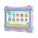 YUNTAB Q91 Tablet Infantil de 7 Pulgadas (Android 5.1, Quad-Core,Allwinner A33, WiFi, Bluetooth, HD 1024x600, 1+16GB, Tarjeta TF 32 GB, Doble Cámara, Google Play, Juegos Educativos) (Pink)