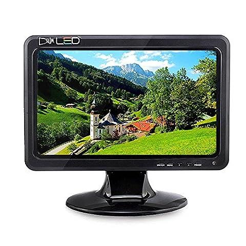 HD LED Monitor Bildschirm für Himbeer Raspberry Pi 3 -10,1 Zoll, 1024x600, Farb-LCD-Bildschirm, tragbare VGA-Display, Stereo-Lautsprecher, HDMI, VGA, AV, TV, USB Outport von Elecrow