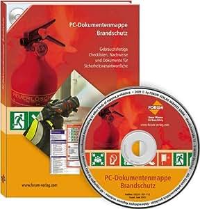 PC-Dokumentenmappe Brandschutz, CD-ROM Gebrauchsfertige Checklisten, Nachweise und Dokumente für Sicherheitsverantwortliche