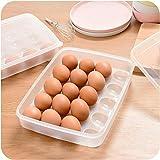 Clode® Eierbox Eieraufbewahrung Kühlschrank Transportbox für 20 Eier, Transparent, Maße 29.5 x 22.5 x 6cm (A) -