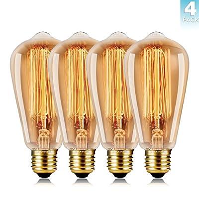 WEDNA ST64 E27 40w Retro Edison Light Bulb from WEDNA