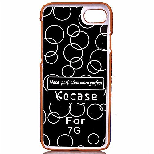 Voguecase® für Apple iPhone 7 4.7 hülle, (Karte/Scale Muster-Lila) Hybrid Hülle Schutzhülle Case Cover + Gratis Universal Eingabestift Kartenslot/Ballone und Haus 01