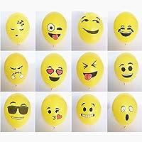 logei ® 100pcs globos Emoji diferentes Estados de ánimo globos de helio Decoración para el día de San Valentín, compromiso, boda, fiesta (tipo de expresión no se puede seleccionar)