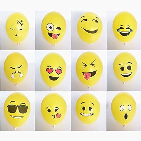 logei® 100 globos St Emoji diferentes Mis globos globos de helio del estado de ánimo de la decoración por día, contrato, boda de San Valentín, la fiesta (tipo de expresión no se puede