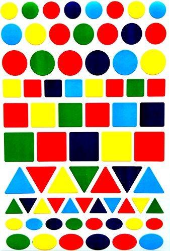 Codificación de Color etiquetas–-value unidades varios tamaños 5colores pegatinas