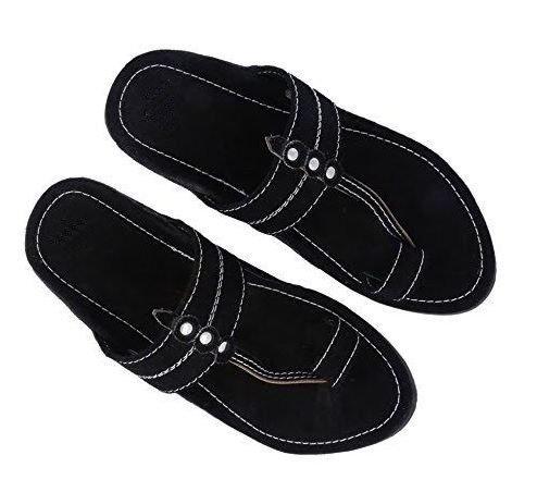 RYAG-Men-Kolhapuri-Design-Leather-Ethnic-Mojari-Slipper-Black