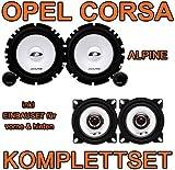 Opel Corsa D - Alpine SXE Komplettset für vorne & hinten