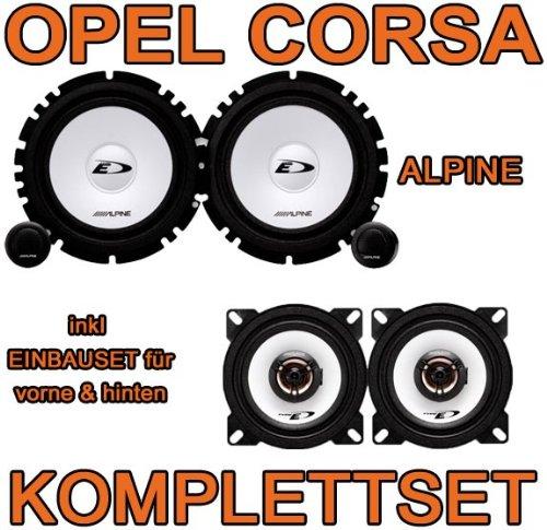 Alpine SXE Komplettset für vorne & hinten für Opel Corsa D - JUST SOUND best choice for caraudio