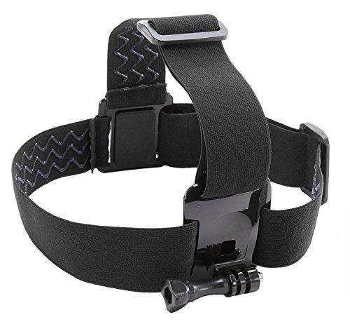 Kitvision Kopfband-Halterung Head Strap Mount für Action Cameras Kompatibel mit den meisten Actionkameras einschl. GoPro HERO[3, 3+ or 4] Hero und Kitvision Edge/Splash/Escape HD5/HD5W/HD4K - Schwarz