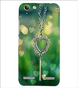 PrintDhaba Heart Pendant D-2463 Back Case Cover for LENOVO LEMON 3 (Multi-Coloured)