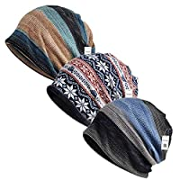 Inconly Chemo Caps for Women Chemo Beanies Women Men Chemo Cap Cancer Hats Scarves Slouchy Baggy Beanie Soft Stretch Sleep Cap Hats Fashion Slouchy Beanie 3 Pack