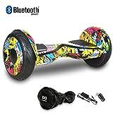 HoverBoard/Skateboard/Gyropode Éléctrique Auto-équilibrage Bluetooth Scooter Trottinette Électrique 10 Pouces,Pneu Gonflable Cool&Fun JUNMA (Hip-hop)