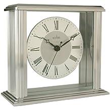Acctim 36247 Hamilton Reloj de chimenea, efecto plateado