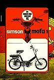 Schatzmix Simson Mofa 1 Rad Aber mit PS DDR Moped Scooter blechschild
