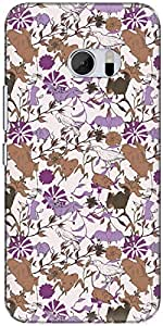 The Racoon Grip printed designer hard back mobile phone case cover for HTC 10. (Purple Fly)