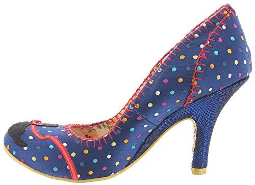 Irregular choice, escarpins femme bLUE 3614-25 chien sCOTTIE Bleu - Bleu
