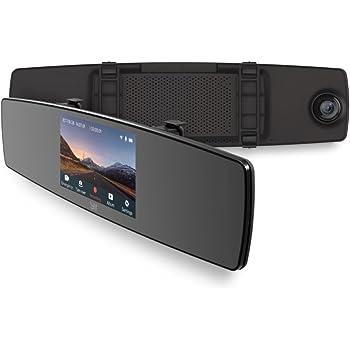 YI Mirror Dash Cam 1080p Full HD Caméra de voiture Caméra Embarquée Wi-Fi intégré Double Caméra de Voiture Avant et Arrière 138° Grand Angle 4.3 '' Ecran Tactile Enregistrement d'urgence - Noir