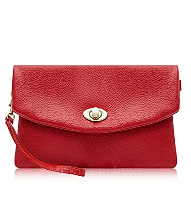 Montte Di Jinne| Italian Leather Soft Leather Clutch Bag | Postman's Lock| - 100% Genuine Italian Leather